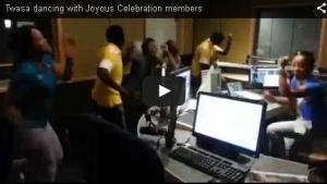 Twasa dancing with Joyous Celebration members - LESEDIFM